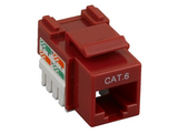 Cat6 Punch Down Keystone Jack - Red - GRANDMAX.com