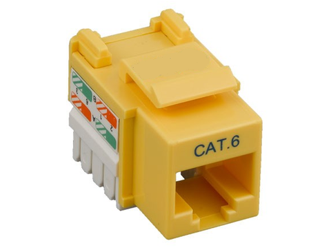 CAT6  Keystone Jack YELLOW, rj45,110 Type, Punch Down by GRANDMAX