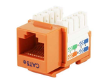 Cat5e Punch Down Keystone Jack - Orange - GRANDMAX.com