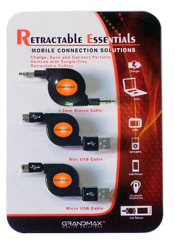 3 Pack Retractable Kit - GRANDMAX.com