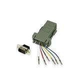 Modular Adapter Kit - DB9 Male to RJ12 Female - 6 Conductor - GRANDMAX.com