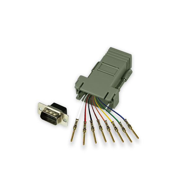Modular Adapter Kit - DB9 Male to RJ45 Female - 8 Conductor - GRANDMAX.com