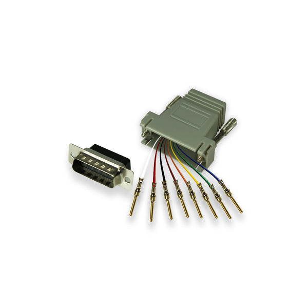 Modular Adapter Kit - DB15 Male to RJ45 Female - 8 Conductor - GRANDMAX.com