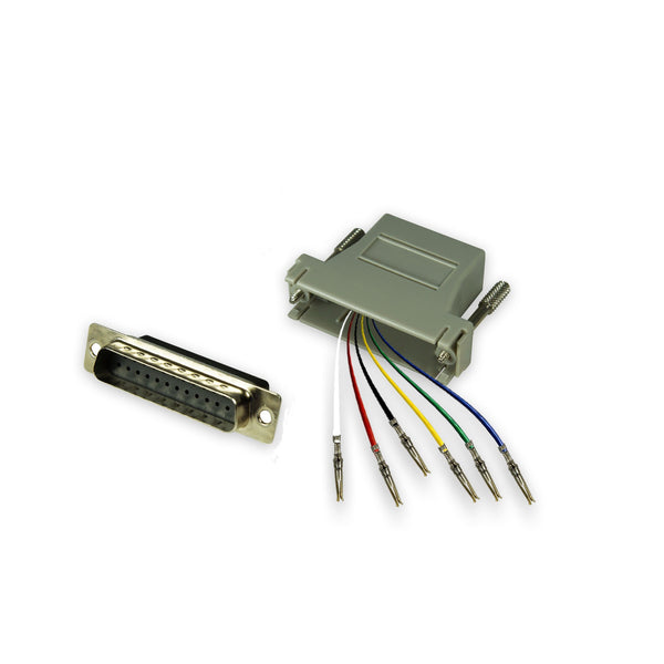 Modular Adapter Kit - DB25 Male to RJ12 Female - 6 Conductor GRANDMAX.com