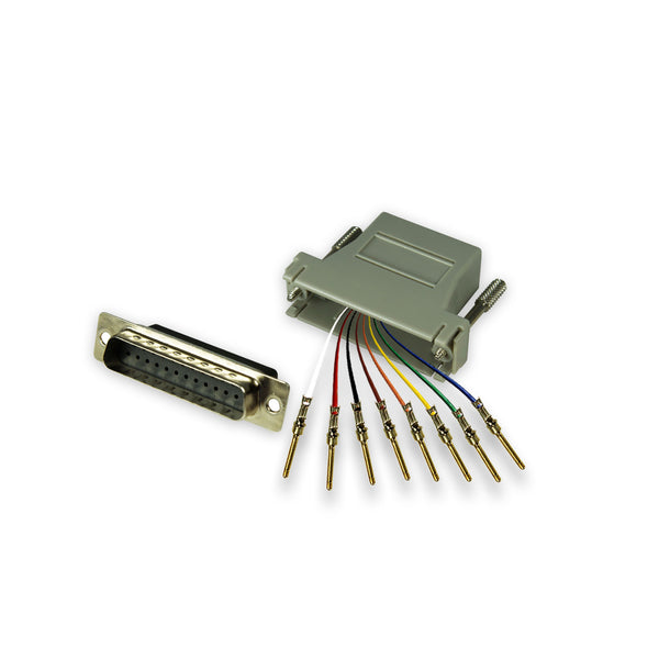 Modular Adapter Kit DB25 Male to RJ45 Female 8 Conductor- GRANDMAX.com