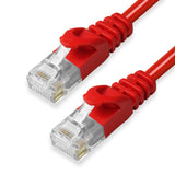 CAT6 Ethernet Patch Cables,  Molded Snagless Boot, UTP  RED - GRANDMAX.com