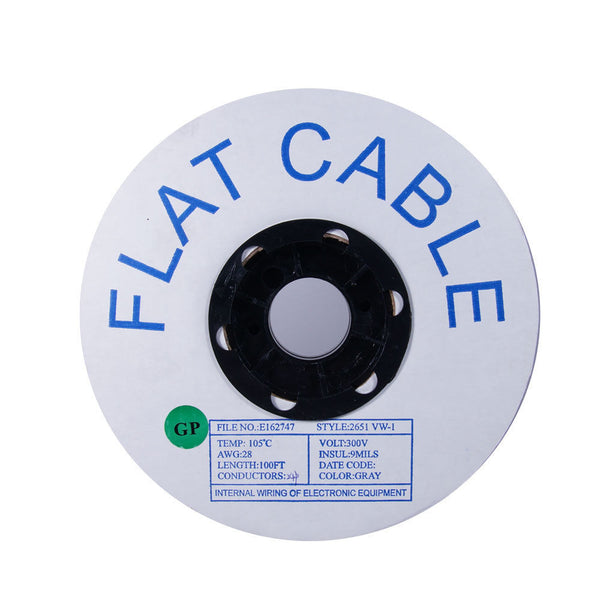24-Pin Flat Cable - 28AWG, 100ft - GRANDMAX.com