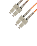 Duplex Multimode Fiber Optic Cable - SC/SC, 62.5/125, OM1, Orange - GRANDMAX.com