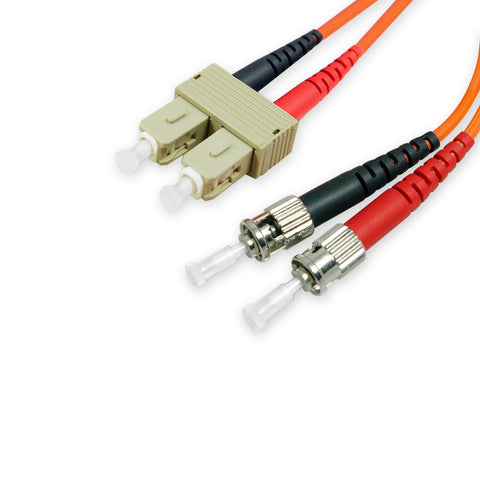 Duplex Multimode Fiber Optic Cable - ST/SC, 62.5/125, OM1, Orange - GRANDMAX.com