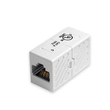 CAT6 RJ45 In-Line Couplers in White