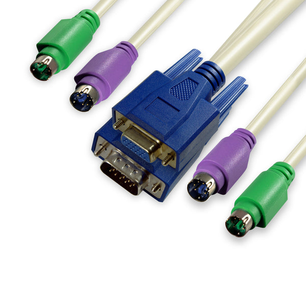 KVM Cable Male to Female - 10ft - GRANDMAX.com