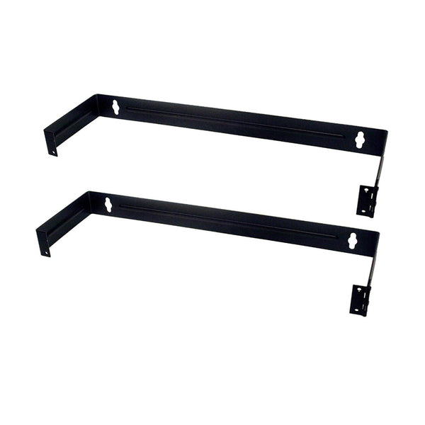 Patch Panel Brackets - Two 1U Steel Wall Mount Hinged Swing Out Patch Panel Brackets