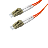 Duplex Multimode Fiber Optic Cable - LC/LC, 62.5/125, OM1, Orange - GRANDMAX.com