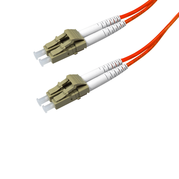 Duplex Multimode Fiber Optic Cable - LC/LC, 50/125, OM2, Orange - GRANDMAX.com