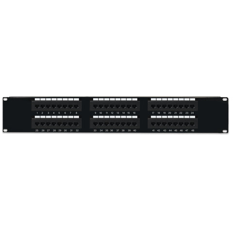 Cat6 Patch Panel - 110 Type, 568A/B Compatible - GRANDMAX.com