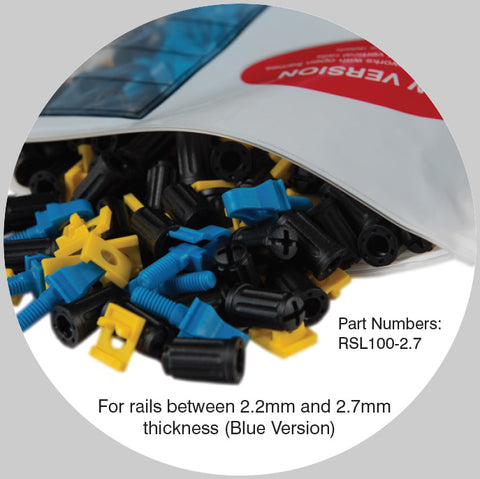 Rackstuds Rack Mounting System - Blue 2.7mm EASY INSTALL