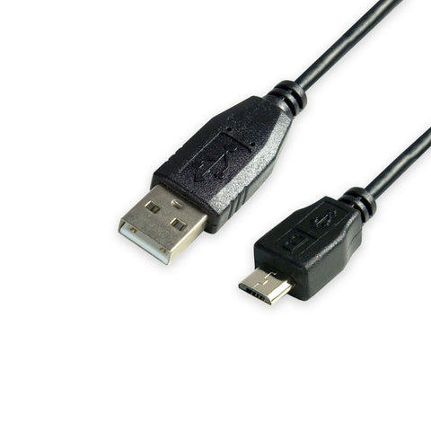 USB 2.0 A Micro B Male Cable, UL, Black