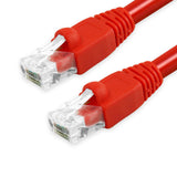 Cat6A Patch Cable Unshielded Bubble Boot - Red GRANDMAX.com