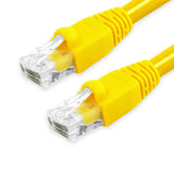 Cat6A Patch Cable Unshielded Bubble Boot - Yellow GRANDMAX.com