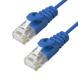 Cat6 Slim Patch Cable Molded Snagless Boot - Blue GRANDMAX.com