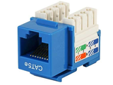 Cat5e Punch Down Keystone Jack - Blue - GRANDMAX.com
