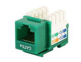 Cat5e Punch Down Keystone Jack - Green - GRANDMAX.com