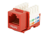 Cat5e Punch Down Keystone Jack - Red - GRANDMAX.com