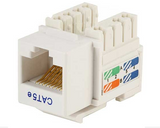 Cat5e Punch Down Keystone Jack - White - GRANDMAX.com