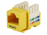 Cat5e Punch Down Keystone Jack - Yellow - GRANDMAX.com