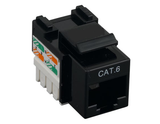 Cat6 Punch Down Keystone Jack - Black - GRANDMAX.com