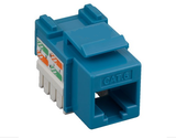 Cat6 Punch Down Keystone Jack - Blue - GRANDMAX.com