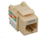 Cat6 Punch Down Keystone Jack - Ivory - GRANDMAX.com