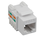 CAT6  Keystone Jack WHITE, rj45,110 Type, Punch Down by GRANDMAX