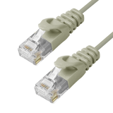 Cat6 Slim Patch Cable Molded Snagless Boot - Gray GRANDMAX.com