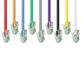9 Colors - Cat5e Patch Cable No Boot (Red, Orange, blue, Green, Gray, Purple, Black, Yellow, White) GRANDMAX.com