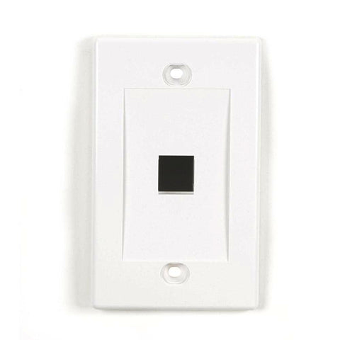 rj45 White 1 port Keystone Wall Plate by GRANDMAX