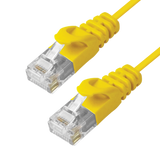 Cat6 Slim Patch Cable Molded Snagless Boot - Yellow GRANDMAX.com