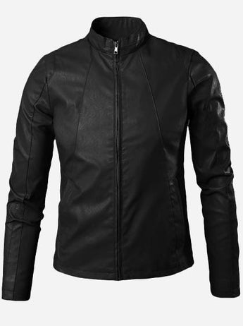 Men's Black Winter Wear Leather Jacket