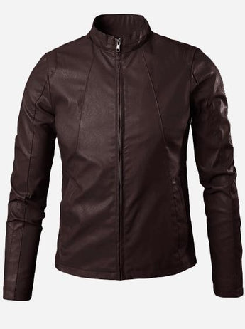 Men's Brown Winter Fashion Leather Jacket