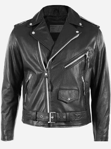 Biker Boyz Black Leather Biker Jacket