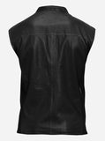 Biker Wear Black Leather Vest for Men