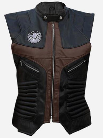 Captain America Black Avenger Leather Vest