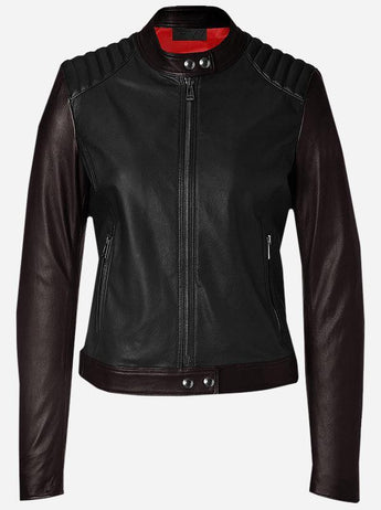 Biker Leather Jacket for Women