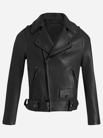 Black Leather Biker Jacket Women