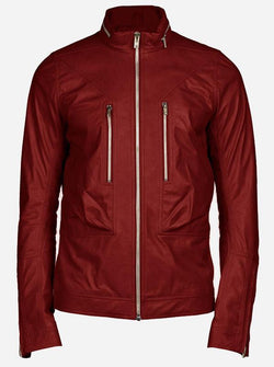 Maroon Leather Jacket for Men
