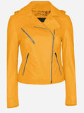 Women's Yellow Leather Jacket