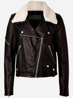 Women Fur Leather Jacket
