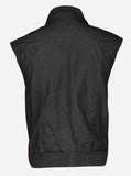 Soft Men Bomber Black Leather Vest