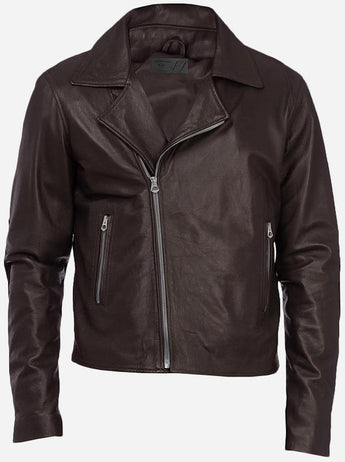 Street Style Menswear Brown Double Rider Leather Jacket