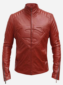 Superman Red Leather Jacket For Women